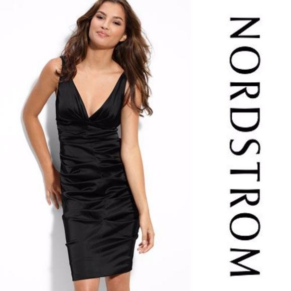 Xscape Dresses & Skirts - Size 4 Black satin Ruched Formal Dress